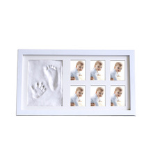 Baby Souvenirs Inkpad Photo Frame My First Year Hand and Footprint Picture Props Monthly Milestone Gift Home Decor Newborn Items