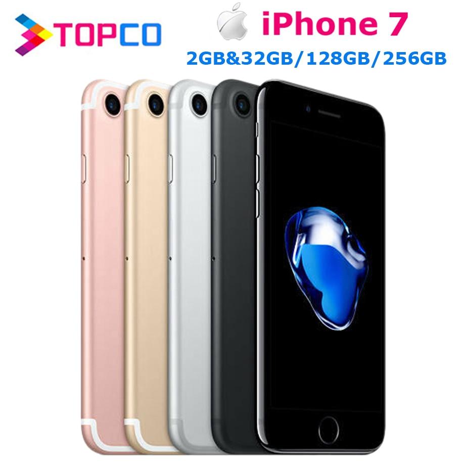 Для Apple iPhone 7 фабрика оригинальный разлоченый мобильный телефон 4 аппарат не привязан к оператору сотовой связи 4,7 дюймовый двухъядерный A10 ...