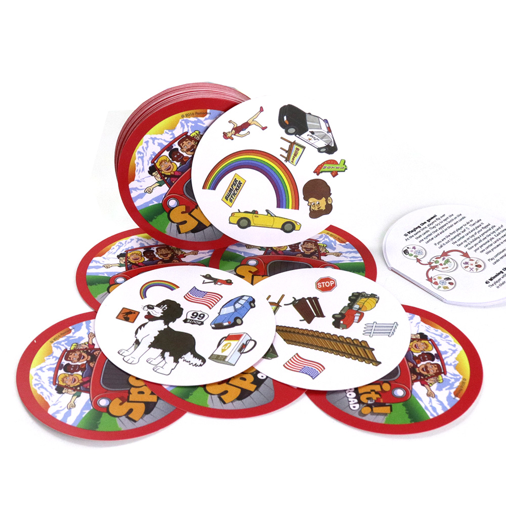 New 70mm Spot On The Road Card Game Mini Dobble For Kids Gifts Find It Fun Family Party Board Games