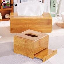 Бамбуковые прямоугольные бумажные салфетки держатель коробки бумажная коробка для хранения коробка ткани покрытие автомобиля деревянные салфетки держатель, чехол, органайзер украшение дома