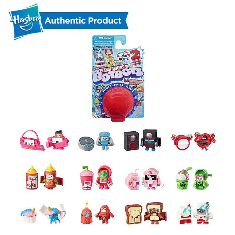 Hasbro Transformers 0.75-1.5 Inch Blind Box BotBots Toys Series Sugar Shocks 2 In 1 Collectible Figures Funny Transforming