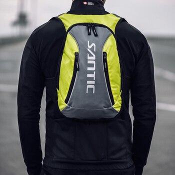 Santic bicicleta saco ciclismo mochila respirável 15l ultraleve saco de escalada reflexiva w9p055 1