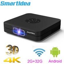 Smartldea K1 HD Proiettore DLP android 2G RAM 32G ROM 4K 3D di alta luminosità di giorno beamer 5G wifi airplay video game proyector