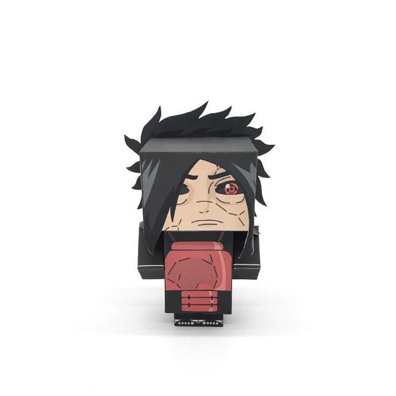 Naruto Uchiha Madara di Taglio Pieghevole Mini Carino 3D Modello di Carta Papercraft Anime Figura FAI DA TE Cubee Per Bambini di Età Giocattoli Artigianali MG-025