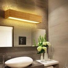 DX-lampe murale en bois pour miroir de salle de bains, mur led lumières, éclairage de lit, style nordique vintage