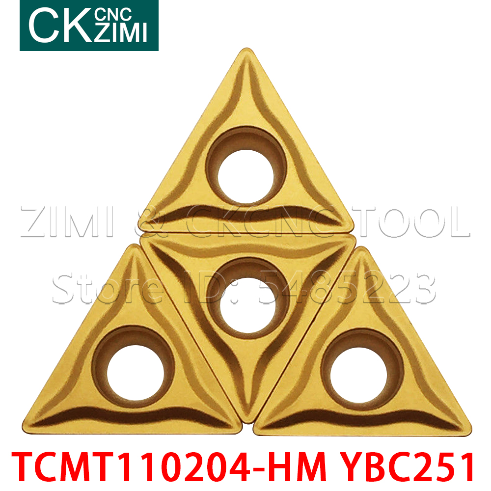 TCMT110204-HM YBC251 Carbide inserts wood turning tools lathe cutter milling cutter CNC cutting tools <font><b>TCMT</b></font> <font><b>110204</b></font> Turning Blades image