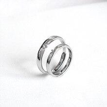 ZOBEI خمر 925 فضة الصليب افتتاح خواتم fo زوجين النساء مجوهرات الزفاف خواتم كبيرة العتيقة قابل للتعديل Anillos