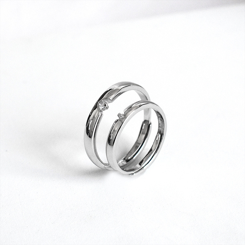 ZOBEI Vintage 925 Sterling Silver Cross Opening Rings fo rCouple Women Wedding  Jewelry Large Adjustable Antique Rings AnillosRings   -