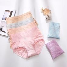 High Quality Lace Panties Women Fashion Cozy Lingerie Pretty Briefs Cotton Middle Waist Cute Underwear