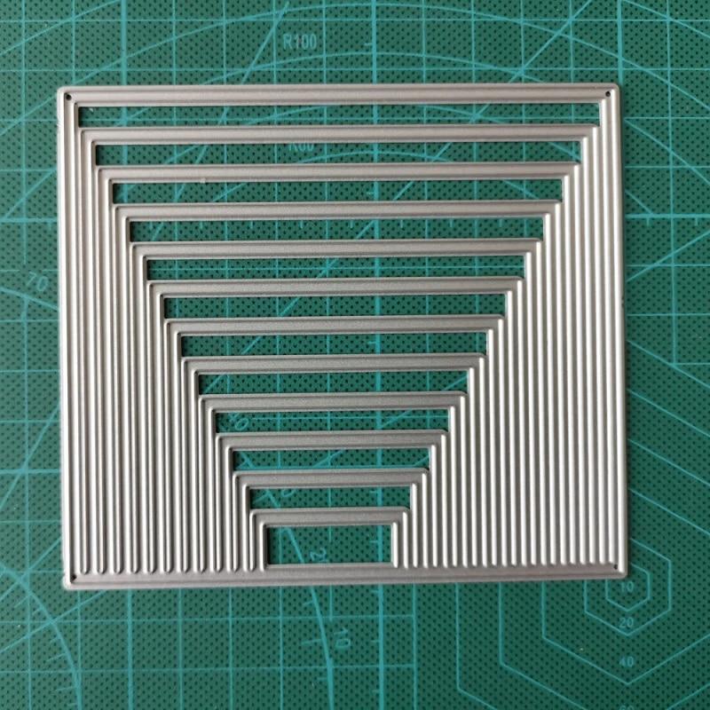 Background Frame Set Metal Cutting Dies for DIY Scrapbooking Photo Album