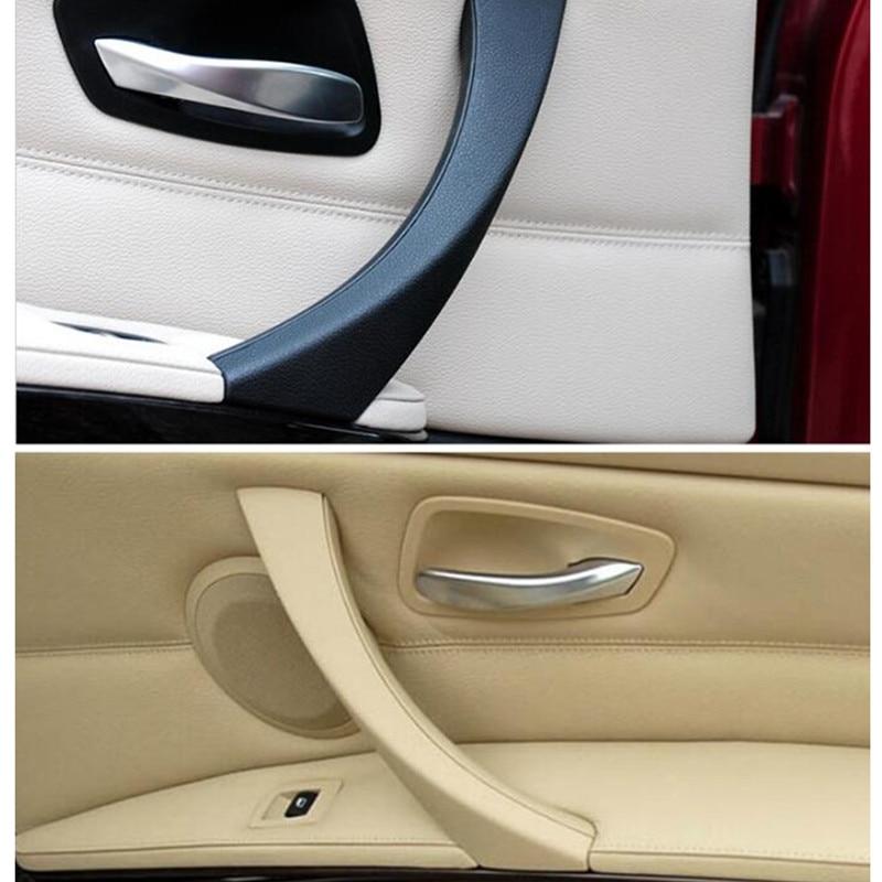 Car Inner Handle Interior Door Panel Pull Trim Cover Gray Beige Black Left Right Inner Handle For BMW E90 E91 316 318 320 325