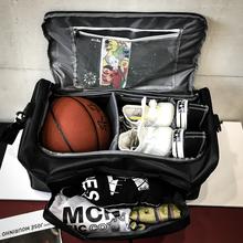 Torby z motywem koszykarskim sportowe torby treningowe torby fitness torby podróżne przenośne torby podróżne męskie o dużej pojemności torby bagażowe tanie tanio CN (pochodzenie) Oxford