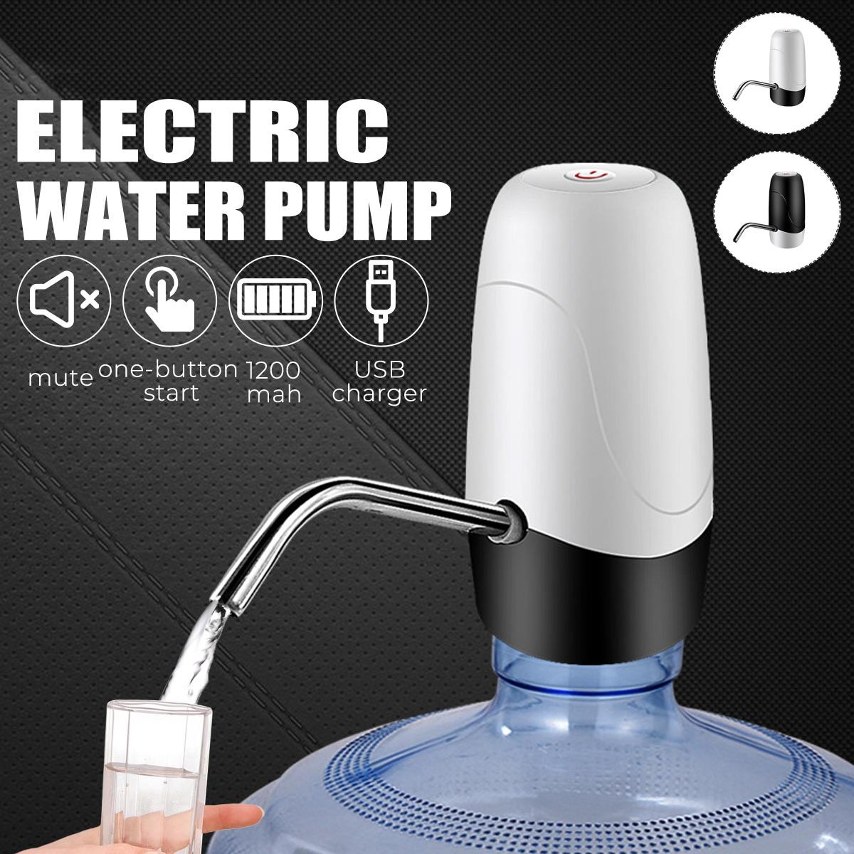 Automatic Electric Water Pump Dispenser Drinking Bottle Switch Smart Wireless Water Pump 3.7V USB Rechargeable Outdoor