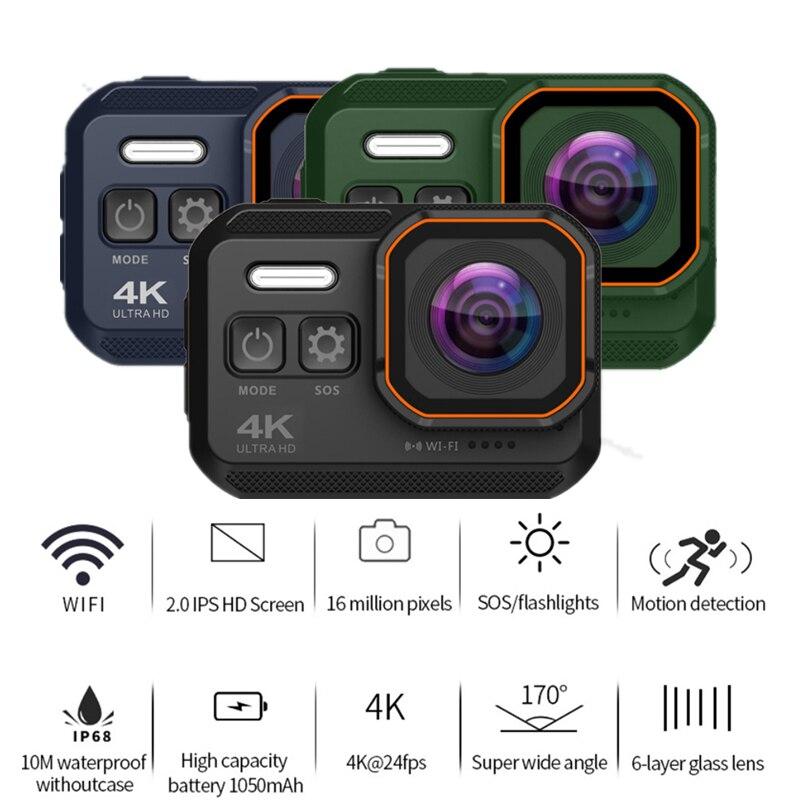 KCX-Cámara de acción Ultra HD 4K, 10m, impermeable, pantalla de 2,0 pulgadas, 1080p, cámara deportiva go extreme pro, grabadora de unidad tachograp