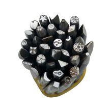 36 ピース/セットdiy工芸品ツール鋼パンチ花パンチスタンプセットジュエリーメイキング