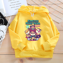 Kids Sweatshirts Hoodies Demon Slayer Kimetsu No Yaiba Baby Boys Girls Autumn Spring Hoodie Tops Clothes Children's Clothing