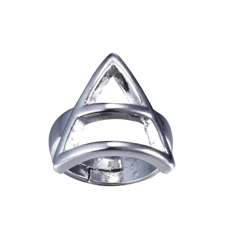 Moda Jóias de Prata Charme 30 Seconds To Mars Logo Triad Ring Anel ORBIS EPSILON