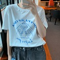 Новинка Весна 2021, белая футболка с коротким рукавом, женская одежда, свободная дизайнерская нишевая Повседневная рубашка, топ, одежда
