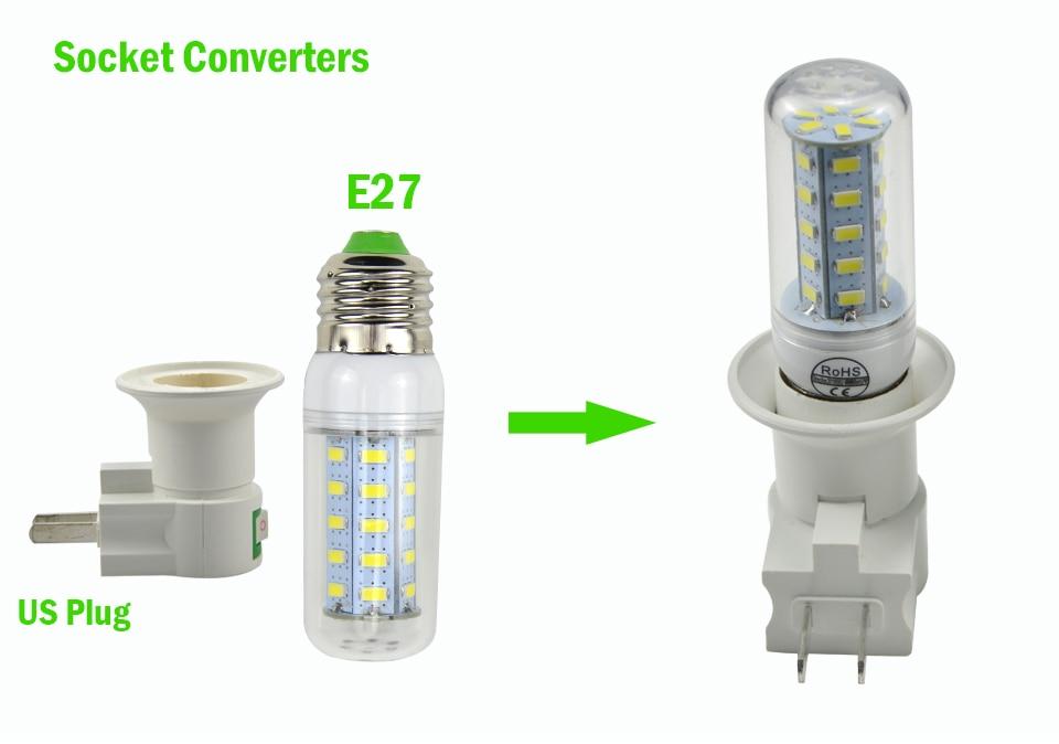 E27 светодиодный светильник лампа база Патрон для ЕС/США Тип переходник конвертер с кнопкой ВКЛ/ВЫКЛ для светодиодный лампы