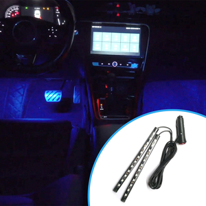 2pcs/set 12V Practical LED Strip Kit Durable Multi-functional Car Foot Ambient Light Interior Decorative Lighting
