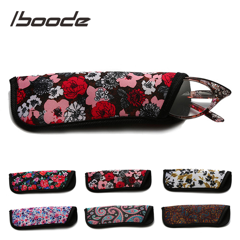 Iboode Retro Floral Printed Glasses Case Bags 2019 Fashion Portable Weave Stroage Bag Reading Glasses Stroage Pouch Container