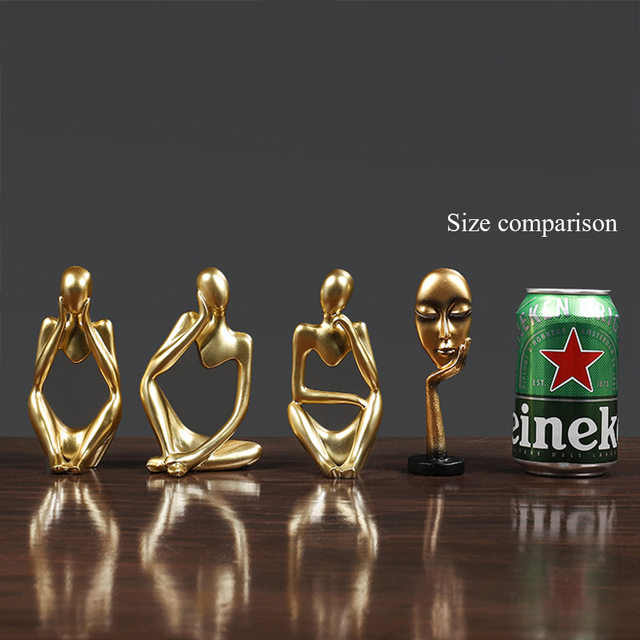 Thinker Statue Abstract Figure Sculpture Small Ornaments Resin Statue Home Crafts Home Decoration Modern Figurines For Interior 2