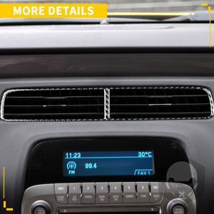 Image 3 - Voor Chevrolet Camaro 2010 2011 ZL1 Koolstofvezel Accessoires Auto Center Dash Airconditioning Vent Outlet Trim Interieur Sticker