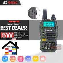 Mise à niveau 5W Quansheng UV R50 2 talkie walkie Mobile Vhf Uhf double bande Radio camouflage UV R50 1 UV R50 série Uv 5r tg uv2 UVR50