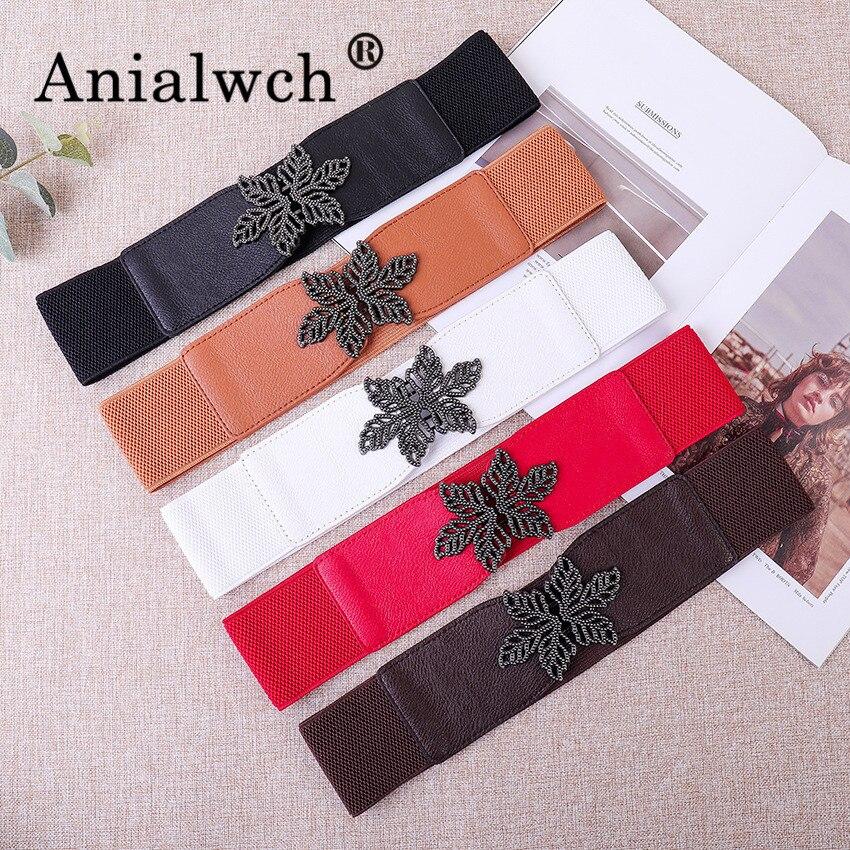 66*6cm Petal Buckle Fashion Elastic Width Women Girdle Female Belts For Women Belt With Spring Skirt Cummerbund Waist Belt G006