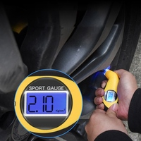Tyre Air Pressure Gauge Meter Electronic Digital LCD Car Tire Manometer Barometers Tester Tool For Auto Car Motorcycle Tire Pressure Monitor Systems     -