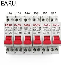 Mini disjuntor DZ30-32 dpn, mini disjuntor mcb 6a 10a 16a 20a 25a 32a din rail, corte de montagem interruptor de ar doméstico miniatura oem diy