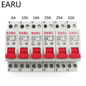 DZ30-32 DPN 1P+N Mini Circuit Breaker MCB 6A 10A 16A 20A 25A 32A Din Rail Mounting Cutout Miniature Household Air Switch OEM DIY(China)