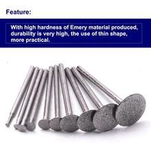 10/20PCS Diamant Montiert Punkt Schleifen Kopf 2mm bis 16mm Cutter Kopf Stein Jade Carving Polieren gravur Werkzeuge 2.35/3mm Schaft