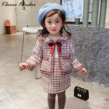 Комплект из 2 предметов: пальто + юбка твидовый комплект одежды