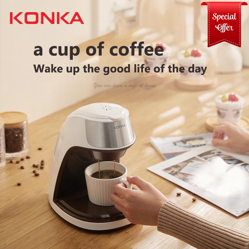 KONKA Home Office Special American Coffee Machine Automatic Dripping Coffee Maker Brew Tea Coffee Powder Free Ceramic Coffee Cup