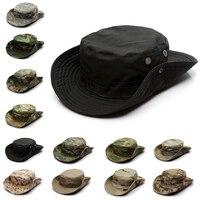 Gorra táctica de camuflaje para hombre, sombrero Boonie Militar del Ejército de los EE. UU., Camuflaje, deportes al aire libre, sombrero de sol, pesca, senderismo, caza, 59CM