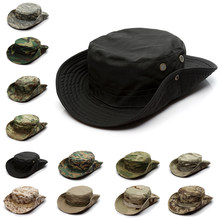 Camouflage Tactical Cap Military Boonie Hut UNS Armee Caps Camo Männer Outdoor Sports Sun Eimer Kappe Angeln Wandern Jagd Hüte 60CM(China)