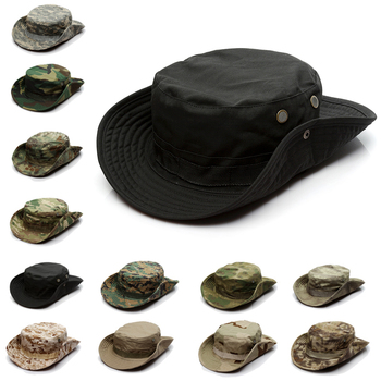 Camouflage Tactical Cap Military Boonie Hat US Army Caps Camo Men Outdoor Sports Sun Bucket Cap Fishing Hiking Hunting Hats new outdoor sports hat men camping hiking fishing hat man sun cap camouflage breathable