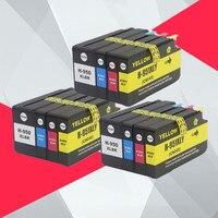 Набор из 12 совместимый для hp 950XL 951XL 950 951 чернильный картридж для hp Officejet Pro 8100 8600 8610 8615 8620 8625 251dw 276dw для hp 950