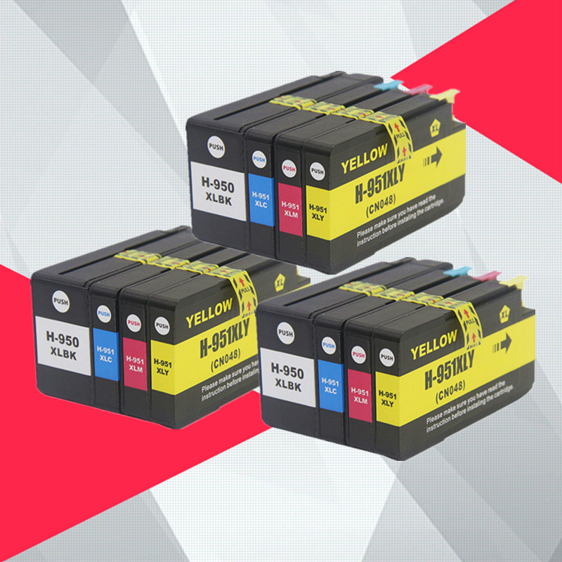 12Pack Compatible For HP 950XL 951XL 950 951 Ink Cartridges Officejet Pro 8100 8600 8610 8615 8620 8625 251dw 276dw for HP950