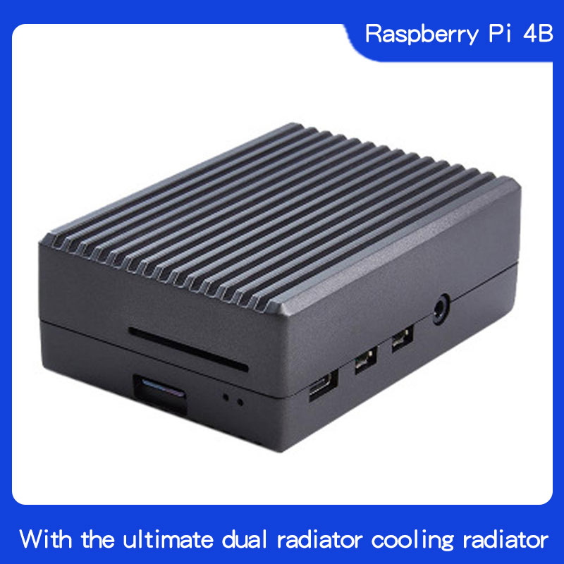 Raspberry Pi 4 Aluminum Alloy Case With Cooling Column Passive Cooling Case For Raspberry Pi 4 Model B