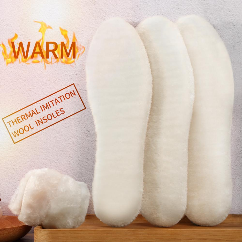 3ANGNI Unisex Breathable Thermal Insoles For Shoes Winter Snow Boots Pad Imitation Wool Warm Insoles Heated Insert Cushion