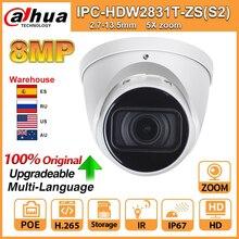 Dahua IPC IPC HDW2831T ZS S2 caméra IP 5X ZOOM caméra HD 8MP IP67 avec carte SD IR 40M H.265 pour la sécurité multilingue