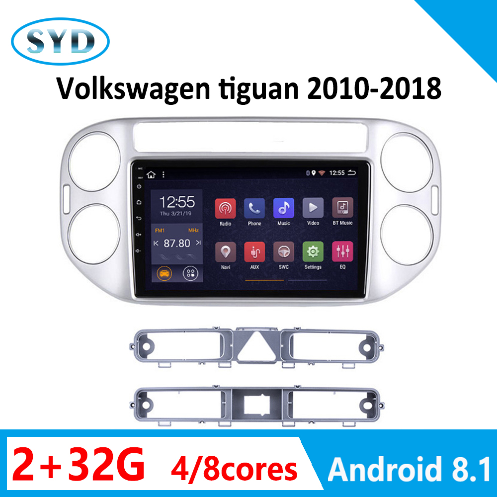 android car DVD multimedia player for Volkswagen tiguan auto radio 2010 2011 2012-2015 2016-2018 navigation autoradio carplay FM image