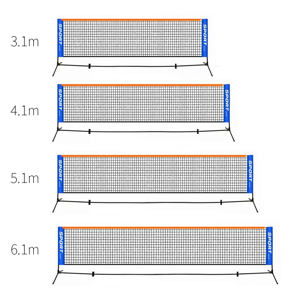 6.1 M * 0.76 M Standard professionnel Tennis formation filet Badminton filet extérieur Tennis filet maille volley-ball exercice