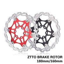 ZTTO – Rotor de frein à disque pour vélo de route et vtt, en acier inoxydable, pour pièces de bicyclette, 180mm/160mm