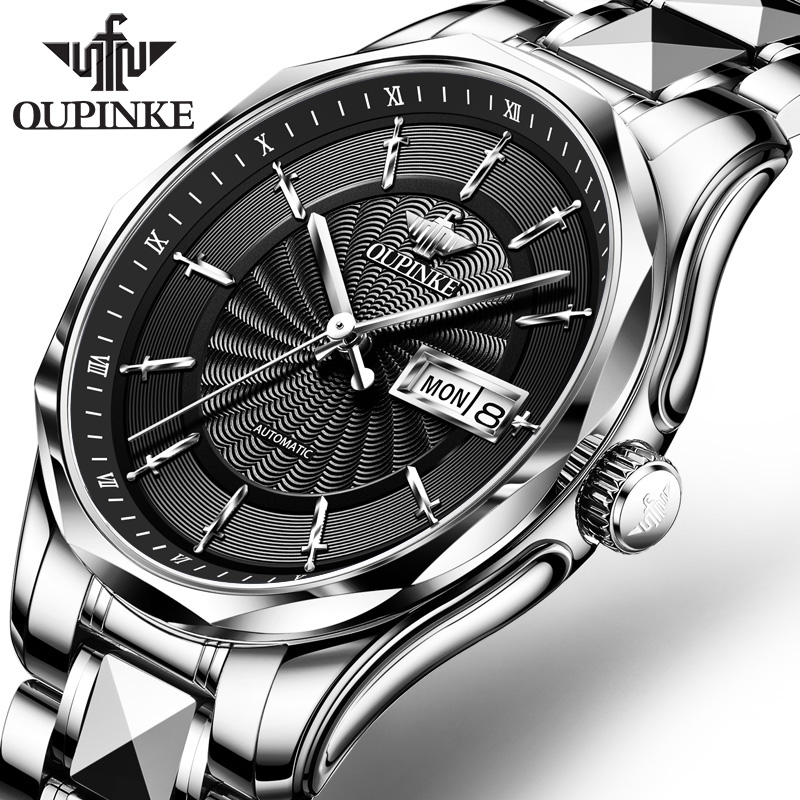 OUPINKE Men Watch Top Brand Business Lxurury Tungsten steel Waterproof MIYOTA  Auto Mechanical watches Gifts for Male Collect 1