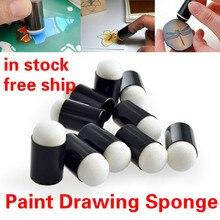 Sponge Painting-Craft-Set Art-Tools Foam-Finger Chalk Inking Staining TSLM1 Applying