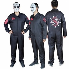 Adult SlipKnot Heavy Metal Cosplay Costume Jumpsuit Halloween Party