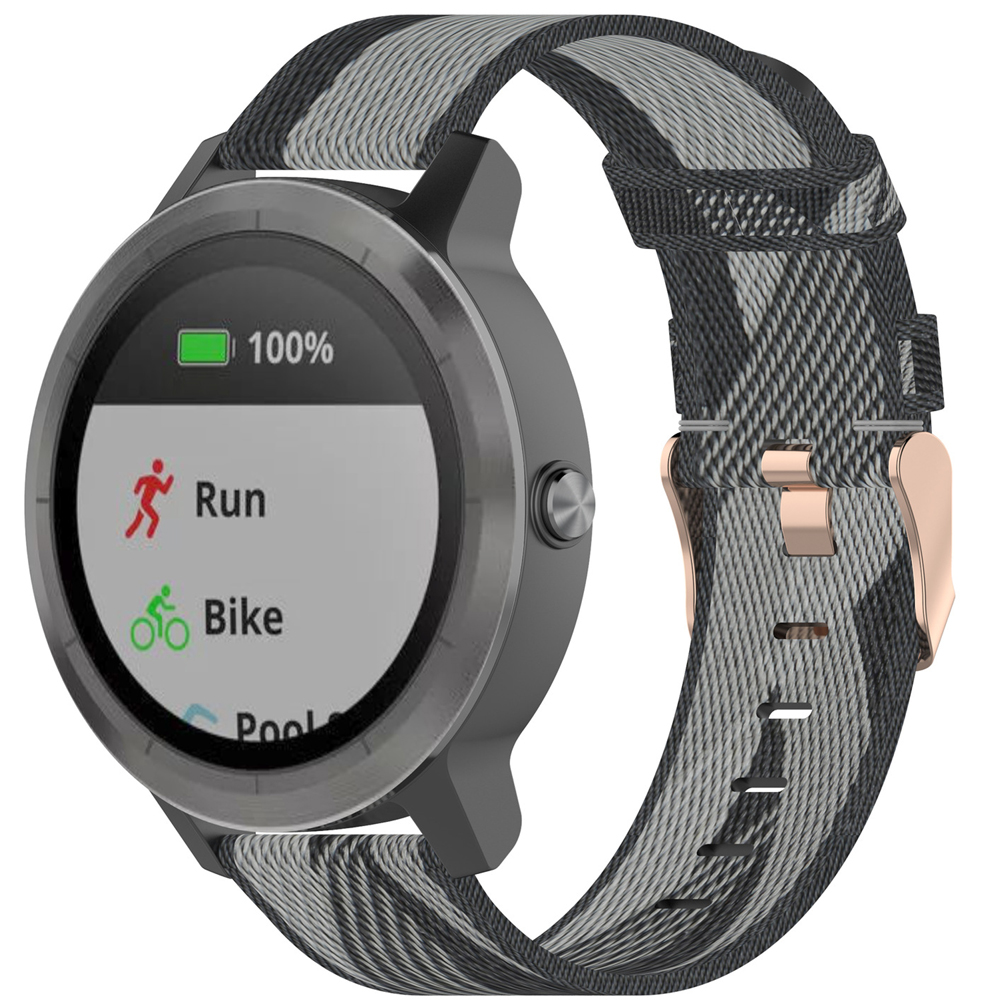 18MM <font><b>20MM</b></font> 22MM Nylon Watch Strap For <font><b>Garmin</b></font> Venu GarminMove 3 <font><b>Garmin</b></font> Active S Vivoactive 4 4S Smart Wristband Quick Release <font><b>Band</b></font> image